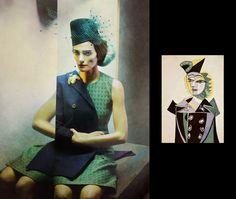 Après le projet des tableaux célèbres adaptés en photos, voici le travail du photographe espagnol Eugenio Recuenco, avec sa série « Picasso » réalisée pour l'hebdomadaire espagnol SMODA, supplément du journal EL PAÍS.