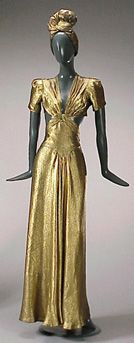 ~Jay Thorpe Gold Lame Evening Dress and Hat 1940s~ I am SO in love with AAAAAAAAAAAAALLLLLLLLLLLLLLL of this!
