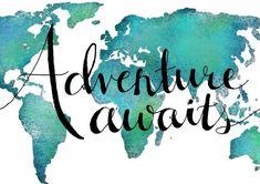 Travel Art Print World Map Art Print Adventure by Paintspiration
