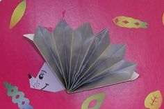 origami hedgehog craft