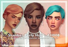 she︱call me creator︱WCIF friendly︱hamster mom︱unstable mess︱plant mom︱ Party Hairstyles, Girl Hairstyles, Sims 4 Decades Challenge, Sims 4 Mm Cc, Hair Pack, Sims Games, Sims Hair, Sims 4 Cas, Sims 4 Cc Finds