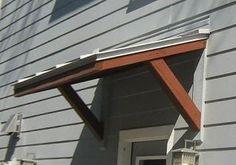 Residential Metal Awning by Austin American Awning Porch Awning, Diy Awning, Metal Awning, Porch Roof, Front Door Awning, Door Overhang, Aluminum Awnings, Pergola, Door Canopy