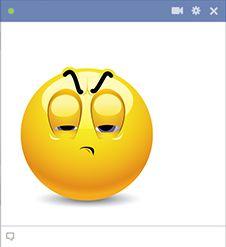 Skeptical emoticon