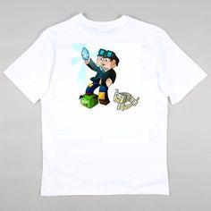 The Diamond Minecart MineCraft Team Girls Boys T Shirt by byBBnDJ