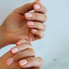 Nail Designs nail designs for fall nail designs for summer g French Manicure Nail Designs, French Tip Nails, Colorful French Manicure, Summer French Manicure, Colored French Nails, Diy Nails, Cute Nails, Pretty Nails, Manicure Y Pedicure