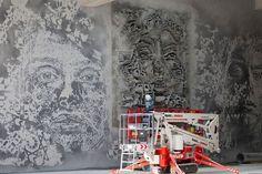 """""""VHILS"""" - O mural foi apresentado à imprensa na quarta-feira - NA FREEPORT - LUXEMBURGO"""