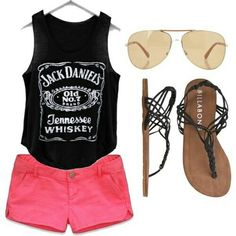 This outfit is for the beach or just hanging out with your friends