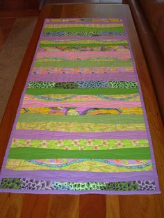 Springtime table runner