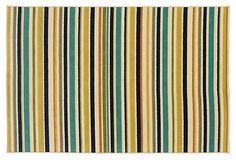 Maybe this one for the TV room--or back porch--Sunset Outdoor Rug, Ivory/Blue on OneKingsLane.com