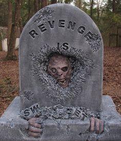 Best Halloween Part 2 Halloween Graveyard, Halloween Tombstones, Halloween Make, Creepy Halloween, Halloween Projects, Holidays Halloween, Haunted Graveyard, Halloween Costumes, Outside Halloween Decorations