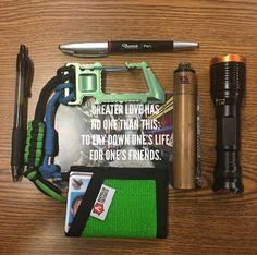 Photo Credit: @lipidisme  #EveryDayCarry #EDC #Hardwork #USA #America #PocketDump #Wallet #Recycled #MadeInTheUsa #RecycledFirefighter