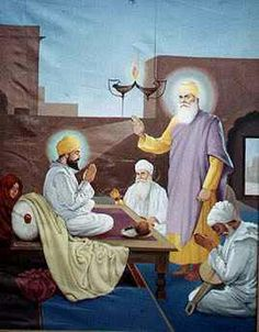 Guru Nanak bestows the Guruship to Bhai Lehna making him the second Guru, Guru Angad Dev saheb ji