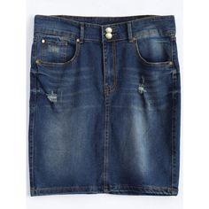 Plus Size Dark Wash Denim Mini Skirt ($21) ❤ liked on Polyvore featuring skirts, mini skirts, rosegal, denim skirt, plus size skirts, mini skirt, denim miniskirt and plus size blue skirt