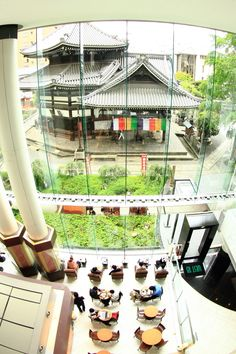 View from a Starbucks Coffee Shop, Kyoto, Japan 烏丸六角