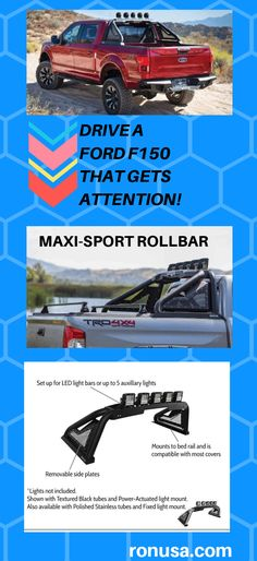 Check out our Sport Rollbar which is available for the Ford F150; and many makes and models of Trucks. #fordraptor #fordf150 #fordtruck #f150 #fordf150raptor #trucks #fordtrucks #chevytrucks #pickuptruck #gmctrucks #chevrolettrucks #trucktrend #chevroletpickup #offroadtrucks #rollbar #truckrollbar #rollbarpickup