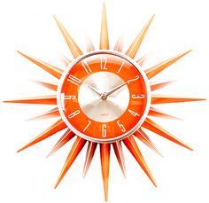 #orange sunburst clock