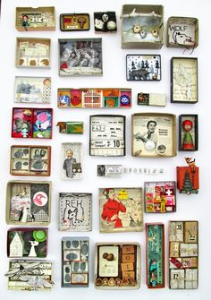 Little worlds in boxes. mano kellner, art boxes, all of december 2012