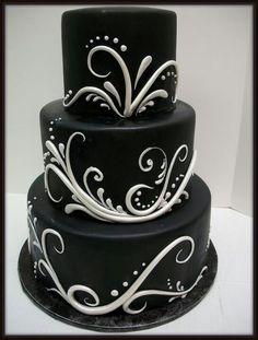 Black cake.  What a great Groomsman cake.