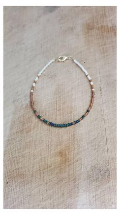 Details about  /Handmade Circle and Light Green Glass and Beads Bracelet Silver-Black BRA-49