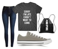 """""""Untitled #32"""" by embozant on Polyvore featuring Converse, women's clothing, women, female, woman, misses and juniors"""