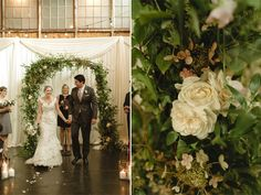 floral wedding arch from Botanique: Coogan and Chuck at Sodo Park | Chantal Andrea Photography