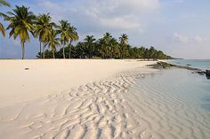 Early morning on the beach, Lakshadweep Islands,  India