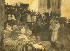 Aquellos tiempos en que las mujeres iban a lavar al lavadero del pueblo  Fuente: Amigos de Ibias (Facebook)