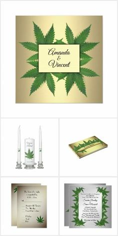 Marijuana wedding items, better known as a weeding :)
