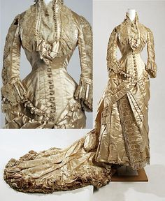 Wedding dress, 1880, American