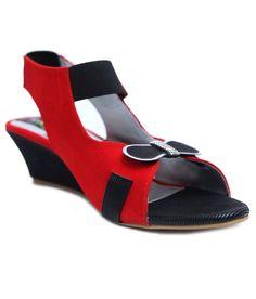 Relexop Red Heeled Sandals