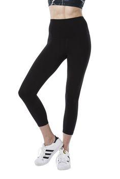 Black//Grey Brushstroke Pattern Kirkland Signature Ladies/' Active Legging Pant