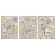 Reserved Listing Flower Paintings Wall Art Canvas by Amborela
