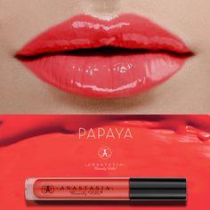 Papaya on the lips. anastasia beverly hills lip gloss