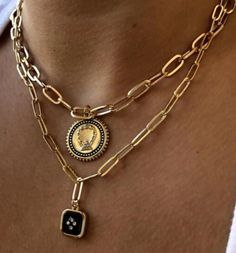 Coin Jewelry, Coin Necklace, Jewelery, Necklaces, Mixed Metal Jewelry, Layered Chains, Accesorios Casual, Coin Pendant, Stylish Jewelry