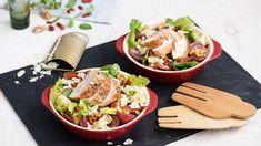 Vyskúšajte dokonalú kombináciu kuracieho mäsa so šalátom s ovocím, orechmi a syrom! Viac receptov na výborné šaláty nájdete na stránke Kuchyne Lidla! Lidl, Prosciutto, Potato Salad, Potatoes, Cheese, Meat, Chicken, Ethnic Recipes, Food