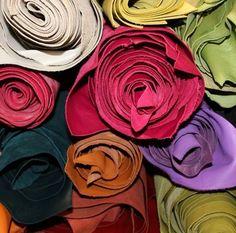 Cuir amener du Lily brodé ❤ véritable cuir cuir de vachette ❤ Handmade