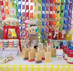 Amazing art party dessert table