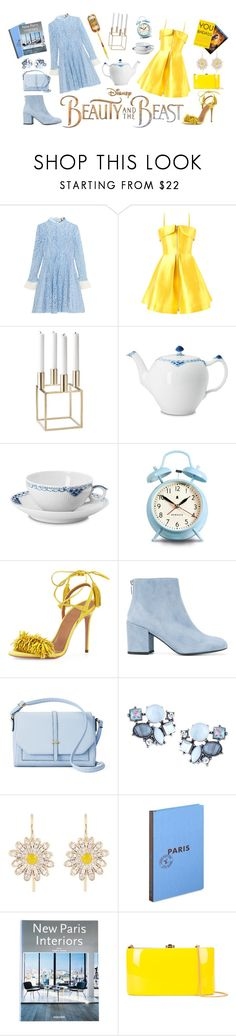 """""""Beauty and the Beast Blue Ray Release"""" by roo-roo-lu ❤ liked on Polyvore featuring Disney, Topshop Unique, Alex Perry, By Lassen, Royal Copenhagen, Newgate, Aquazzura, Stuart Weitzman, Apt. 9 and Lydell NYC"""
