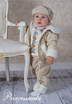 Nr.66 WAHNSINN !!! Festlicher Babywinteranzug! - Princessmoda - Alles für Taufe Kommunion und festliche Anlässe