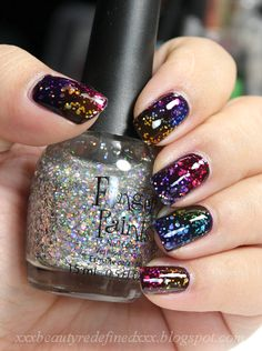 Rainbow Jelly Nail Look