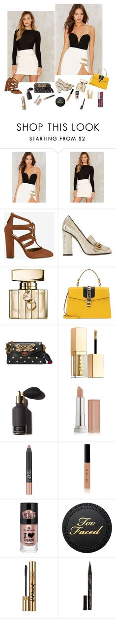 """Mix up"" by audrey-balt on Polyvore featuring Rare London, LnA, Aquazzura, Gucci, Stila, Maybelline, NARS Cosmetics, Bobbi Brown Cosmetics, Yves Saint Laurent and Smith & Cult"