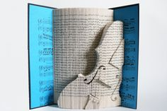 Book Folding Pattern Violin: Book Folding Tutorial Cut and by LoveBookFolding | Etsy