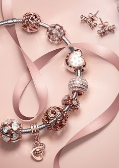 >>>Pandora Jewelry OFF! >>>Visit>> Pandora Rose Collection Artwork on Behance Pandora Bangle Bracelet, Pandora Jewelry, Pandora Charms Rose Gold, Pandora Collection, Cute Bracelets, Bracelet Designs, Cute Jewelry, Piercings, Fashion Jewelry