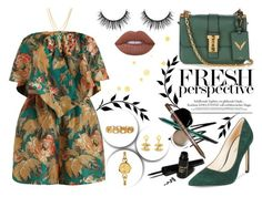 """""""FRESH PERSPECTIVE"""" by yurisnazalieth ❤ liked on Polyvore featuring Valentino, Nine West, Zimmermann, Marco Ta Moko, Chanel, Kenzo and Lime Crime"""