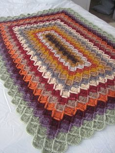 Vintage Colors Crocheted Afghan by TheCrochetCaretaker on Etsy, $60.00