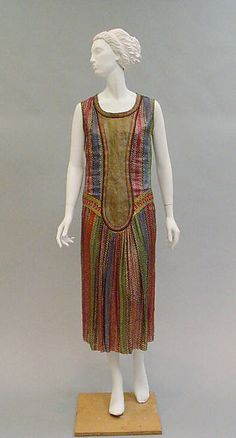 Dress ca. 1925 Paul Poiret (French, Paris 1879-1944 Paris) Silk, leather (hva)