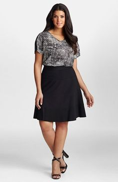 Nordstrom - Mynt+1792+A-Line+Ponte+Skirt+(Plus+Size)+available+at+#Nordstrom