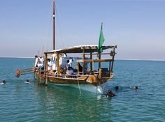 Jumeirah Beach Hotel - Pearl Diving - The Dhow at sea