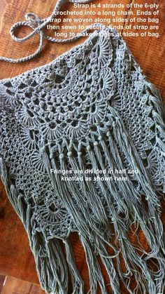 """Crochet Purses Design Modify a doily pattern to make this """"Ala Miss June Desert Bag"""" (inspired by Free People). Thread Crochet, Crochet Crafts, Crochet Doilies, Cute Crochet, Crochet Stitches, Crochet Hooks, Crochet Purse Patterns, Doily Patterns, Bag Patterns"""