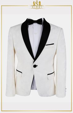 A great all round good looking boys tuxedos that won't disappoint. It comes as a two piece set that includes jacket and trousers. its distinctive floral printed and match everything, patterns is something he'll love to wear and match it with other shirts and ties in his wardrobe. Shop now at SIRRI kids #boys formal wear #kids suits #page boy outfits